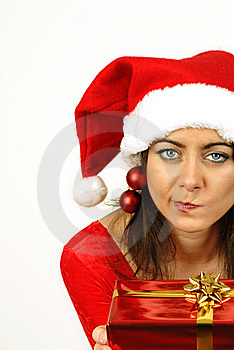 Puzzled About Christmas Gift Royalty Free Stock Photography - Image: 6887987