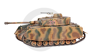 Model Of Pz-IV Tank Royalty Free Stock Photo - Image: 6888595