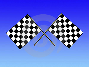 Double Checkered Flag Royalty Free Stock Photo - Image: 6889825