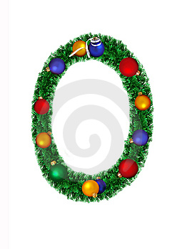Numeral From Christmas Decoration - 0 Stock Photography - Image: 6890732