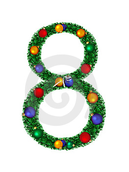 Numeral From Christmas Decoration - 8 Royalty Free Stock Image - Image: 6891176
