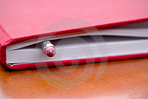 Book With Pencil Inside Stock Photos - Image: 6891773