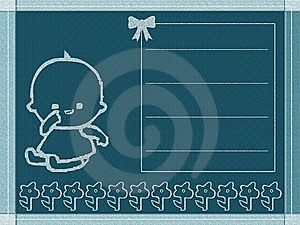 Baby Born Card Royalty Free Stock Photography - Image: 6892157
