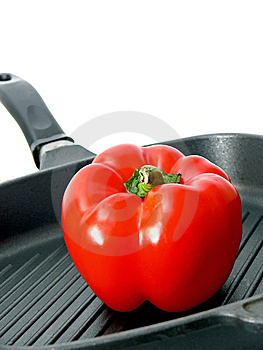 Red Paprica In Pan Stock Images - Image: 6895284