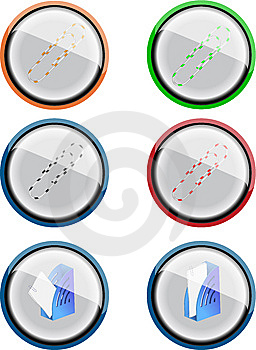 Clip Icons Royalty Free Stock Photos - Image: 6895658