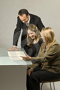 People in Business Meeting Stock Photo