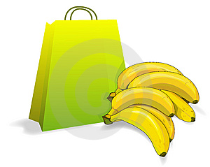 Bananas And Bag Royalty Free Stock Photos - Image: 6899508