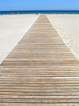 Footbridge To The Sea Stock Photos - Image: 695723