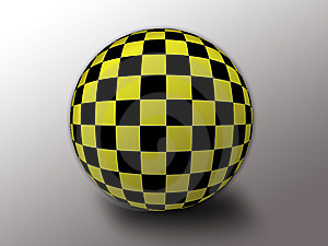 Yellow/black Checkered Flag Stock Images - Image: 6900054