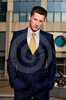 Portrait Of Young Businessman Outdoors Stock Image - Image: 6900491