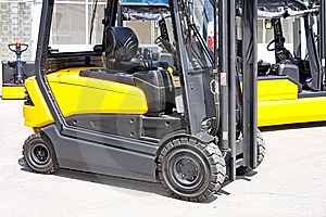 Fork Lifter Cabin Stock Photos - Image: 6901713