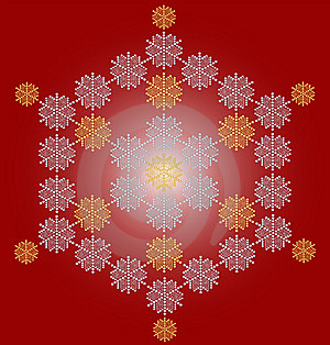 Contemporary Snowflake Christmas Card Royalty Free Stock Photos - Image: 6901718