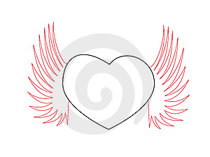 Heart Shaped With Wing Stock Photo - Image: 6902980