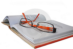 Spectacles On Book Royalty Free Stock Photos - Image: 6903168