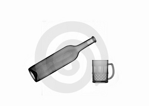 X-ray Picture:bottle And Mug Royalty Free Stock Photos - Image: 6903658