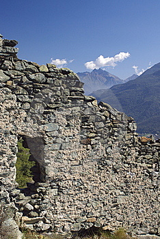 Castle Ruins In Italy, Aosta Royalty Free Stock Photo - Image: 6904435