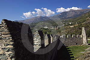 Walls Of Castle Stock Image - Image: 6904461