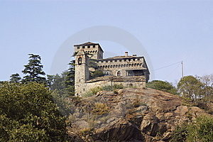 Castle In Italy, Aosta Royalty Free Stock Photography - Image: 6904487