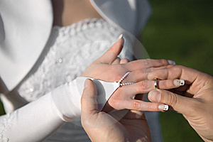 Wedding Rings Exchange Royalty Free Stock Image - Image: 6906926