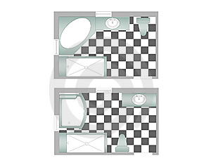 Master Bathrooms Illustrations Royalty Free Stock Photo - Image: 6909895