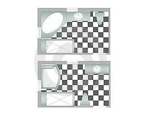 Master Bathrooms Illustrations Royalty Free Stock Photo - Image: 6909895
