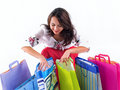 Happy shopping girl Royalty Free Stock Photo
