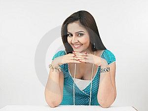 Ritratto asiatico della donna della donna dall'India Fotografia Stock