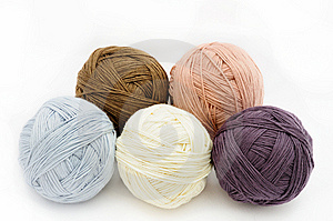 Colorful wool yarn Royalty Free Stock Images
