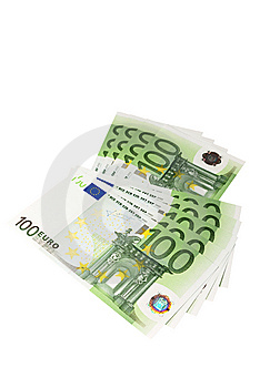 Euro Banknotes (isolated) Royalty Free Stock Photography - Image: 6913337