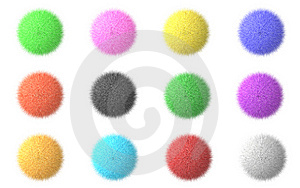 Fluffy Spheres Stock Image - Image: 6913631