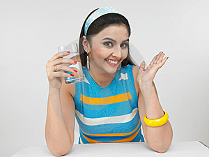 Asian Woman Drinking Water Royalty Free Stock Photos - Image: 6913868