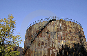 Oil Tank With Stairs Royalty Free Stock Photography - Image: 6914397