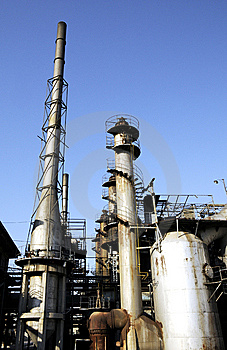 Chemical Factory With Tubes And The Funnels Royalty Free Stock Photography - Image: 6914467
