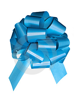 Blue Bow Stock Photo - Image: 6914660