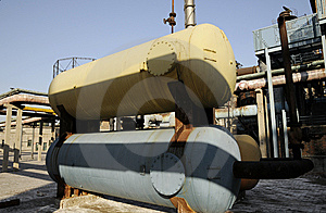 Chemical Factory With Oil Tanks Stock Images - Image: 6914784