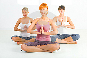 Women meditating Stock Photography