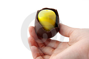 Easter Egg Eaten Royalty Free Stock Photo - Image: 6916125