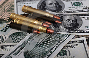 Bullet Dollars Royalty Free Stock Images - Image: 6919769