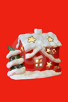 Christmas House-candlestick Stock Images - Image: 6920114