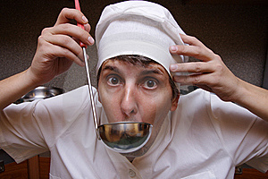 Scary Cook Stock Photo - Image: 6922170