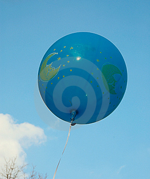 Blue Ballon In The Sky. Stock Photography - Image: 6923182