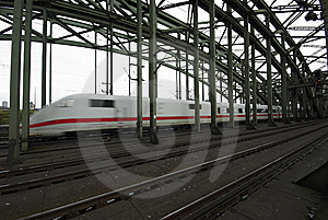 Speedy Train On Bridge Royalty Free Stock Photos - Image: 6923238