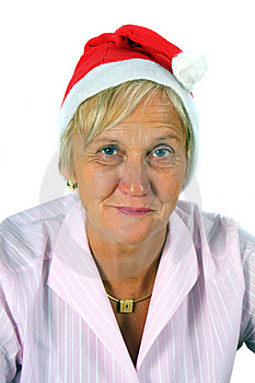 Woman In Christmas Style Stock Photo - Image: 6923400