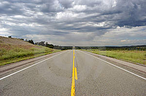 Straight Road In USA Royalty Free Stock Photography - Image: 6923427