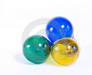 Three Colored Light Bulbs Royalty Free Stock Photo - Image: 6925415