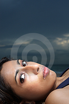 Woman Staring At The Camera Royalty Free Stock Photography - Image: 6925977