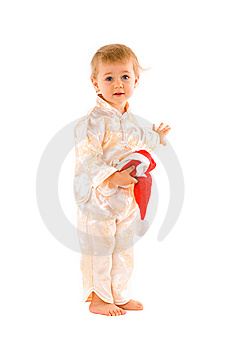 Baby With Santa Claus Hat Stock Image - Image: 6928951