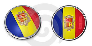 Banner Button Andorra Stock Images - Image: 6929474