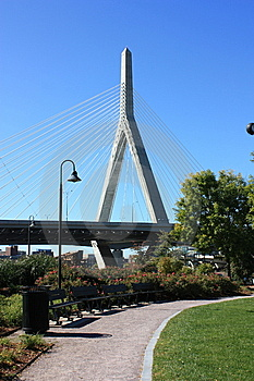 Zakim Bridge Boston Royalty Free Stock Images - Image: 6931449