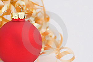 Red Christmas Ornament Stock Photo - Image: 6931850